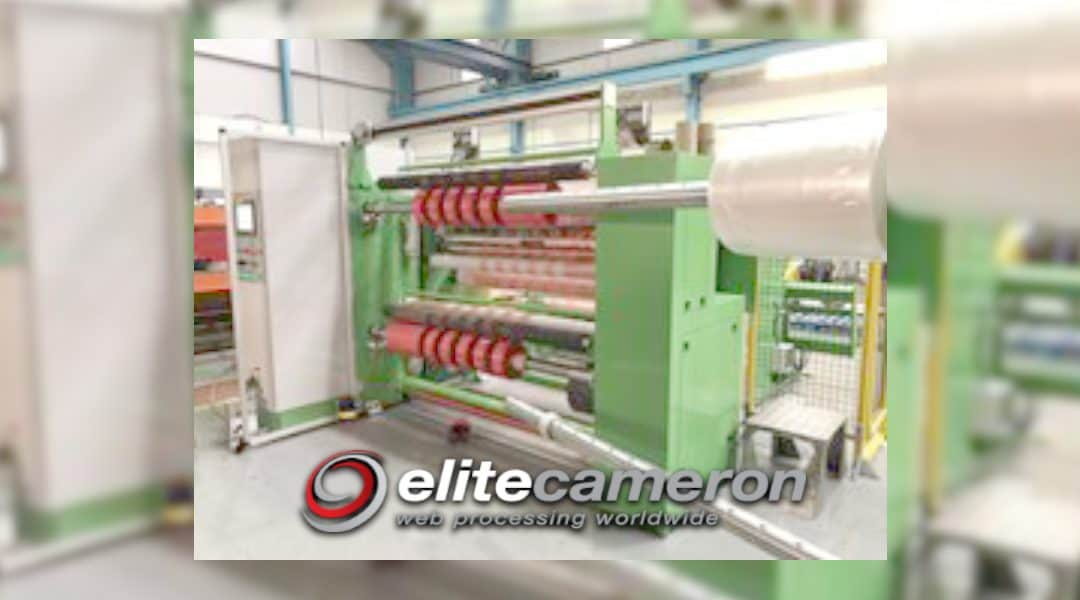 Elite Cameron Supplies New CW800 Slitter Rewinder to Tape Manufacturer