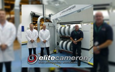 """NEW Elite Cameron """"Clean"""" Slitting Machine supplied to Worldmark Material Sciences."""